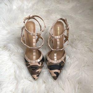 Camo Pointed Toe Heels